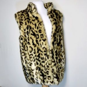 Fabulous Furs Faux Cheetah Vest 90's never worn